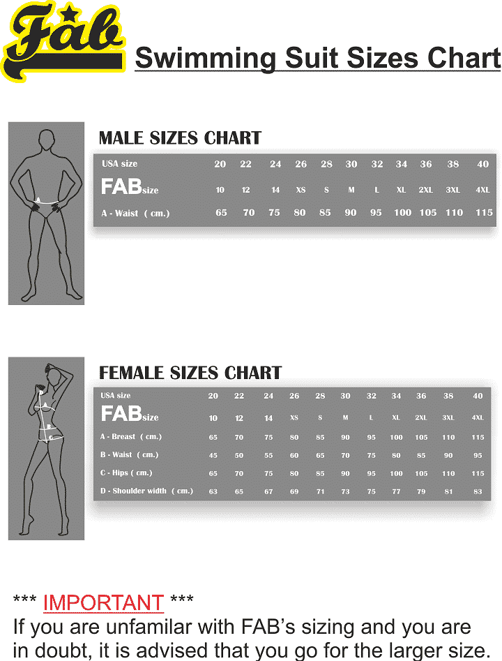 Fab Sizing Chart