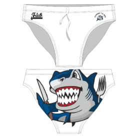 Hungry Shark White Brief