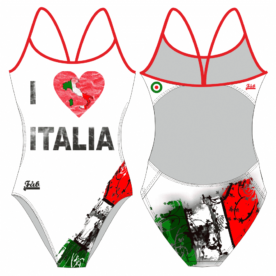 I Love Italia White Female Openback