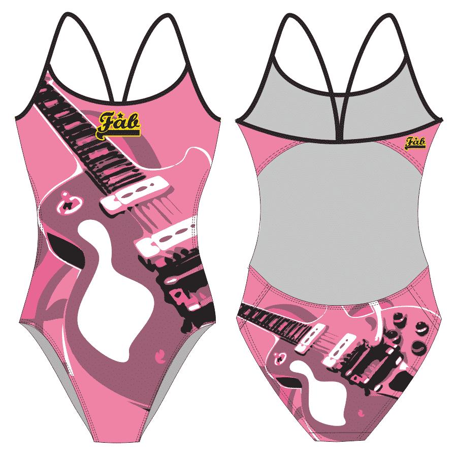 Pink Guitar Female Openback
