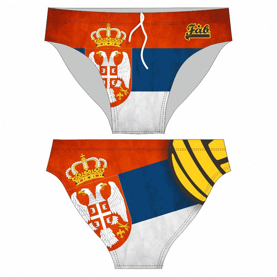 Serbian Flag Male Brief
