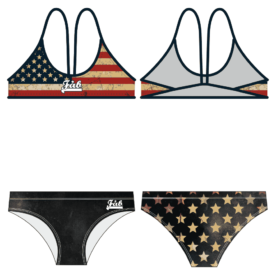 USA Grunge Flag Female Thiny