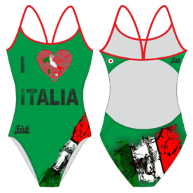 I Love Italia Green Openback